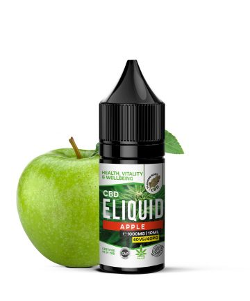 CBD E-liquid Apple flavour 1000MG 60VG 40PG