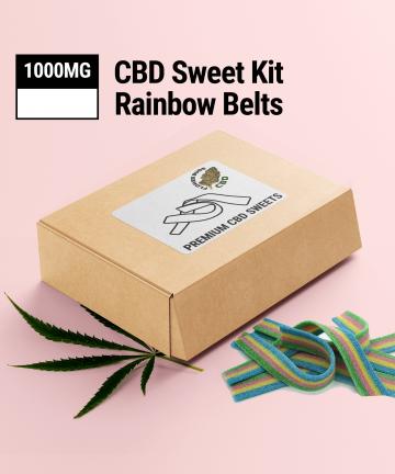 CBD Rainbow Belts | 1000MG | CBD Sweets UK