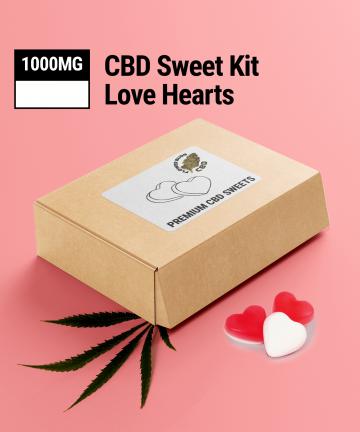 CBD Love Hearts   1000MG   CBD Sweets UK